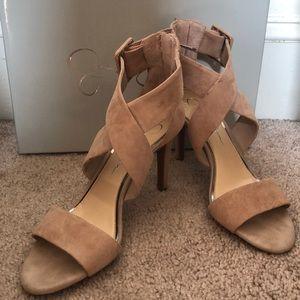 Jessica Simpson Liddy Cross Strap Heels